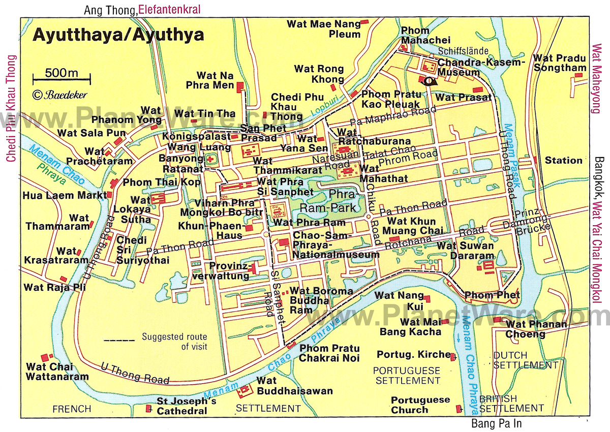 Ayutthaya Carte Thailande.Pourquoi Visiter La Ville Et Les Temples De Ayutthaya En